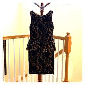 Midi peplum sleeveless dress